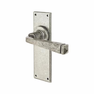 Olde Forge Avon Door Handle - Latch Set - Pewter