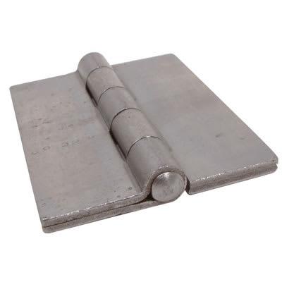 Double Pressed Steel Hinge - 75 x 60 x 4mm - Self Colour Steel - Pair