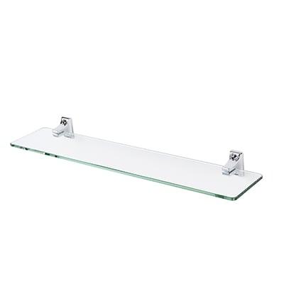 Croydex Sutton Glass Shelf - 500mm - Polished Chrome