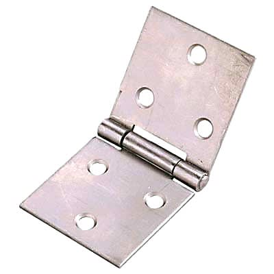 Uncranked Knuckle Backflap Hinge - 38 x 90mm - Self Colour Steel - Pair