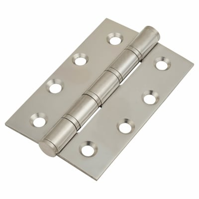 Stainless Steel Washered Hinge - 100 x 66 x 2.5mm - Polished Stainless - Pair