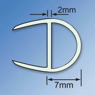 Clear PVC Shower Seal - Bubble Seal - 8mm Glass