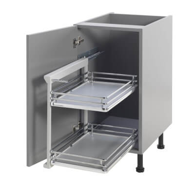 Base Pull Out Plus with Soft Close - Left Hand - Fits to Cabinet Width 300mm