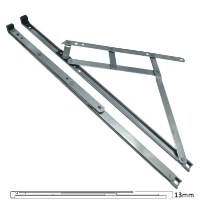Standard Friction Hinge - uPVC/Timber - 13mm Stack - 20 inch / 500mm - Top Hung - Pair