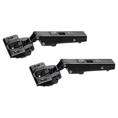 Blum CLIP Top Soft Close Cabinet Hinge - 110° - Overlay - Black Onyx - Pair