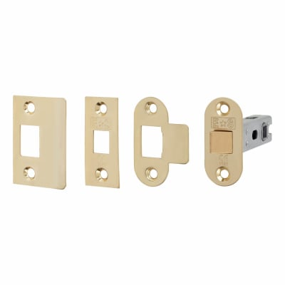 Project Contract Bolt Through Tubular Latch - 76mm Case - 56mm Backset - Electro Brass