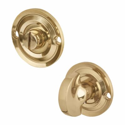 Aglio Bathroom Turn & Release - Polished Brass