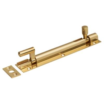 Cranked Barrel Bolt - 150 x 32mm - Polished Brass