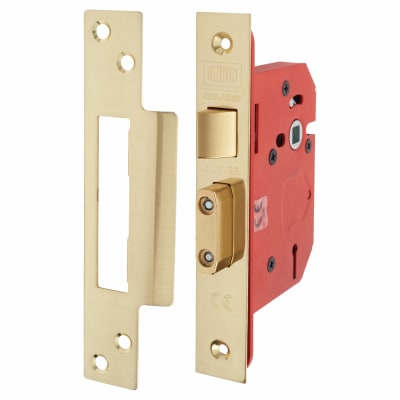 UNION® 2203S StrongBOLT 3 Lever Sashlock - 81mm Case - 57mm Backset - Brass