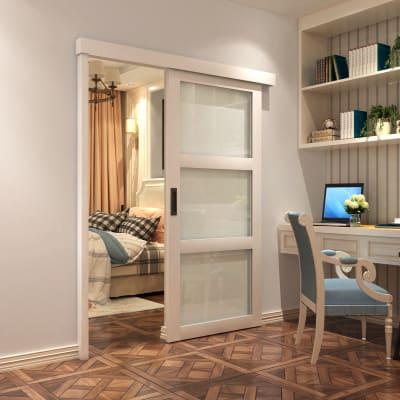 KLUG  Sliding Door Kit - With Pelmet and Post - 2000mm - Un-painted