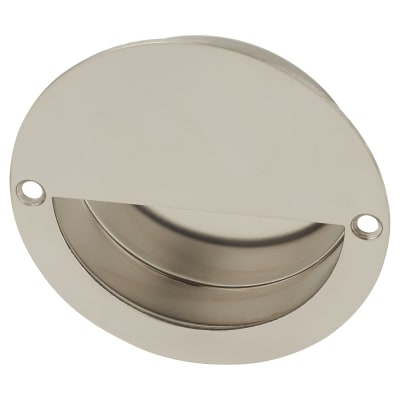 Altro Circular Flush Cabinet Handle - 90mm - Polished Stainless Steel