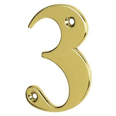 76mm Numeral - 3 - Gold