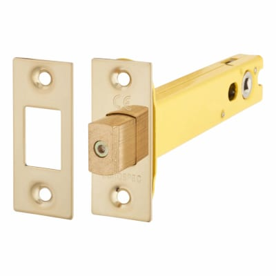 Altro 5mm Tubular Bathroom Deadbolt - 127mm Case - 108mm Backset - PVD Brass
