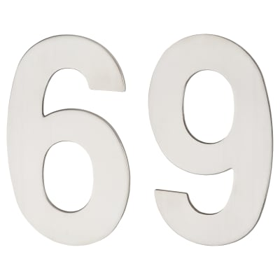 A-Spec Concealed Fixed Numeral - 6 / 9 - Polished Stainless Steel
