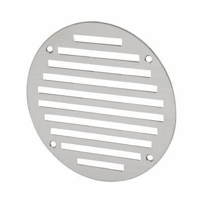 Circular Slotted Vent - 127mm - 4145mm2 Free Air Flow - Polished Stainless Steel