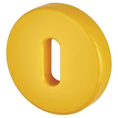 Hoppe Paris Coloured Nylon Keyhole Escutcheon 52 x 9mm - Golden Yellow