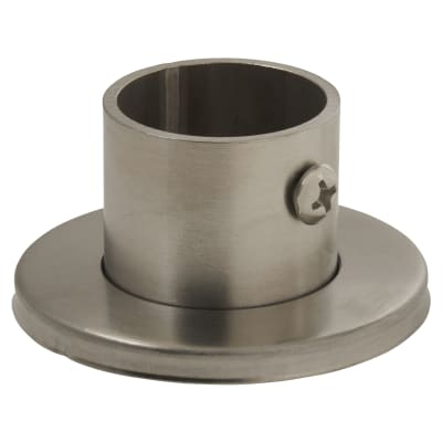 Rothley Endurance Tube End Socket With Locking Grub Screw - 25mm - Brushed Stainless Steel