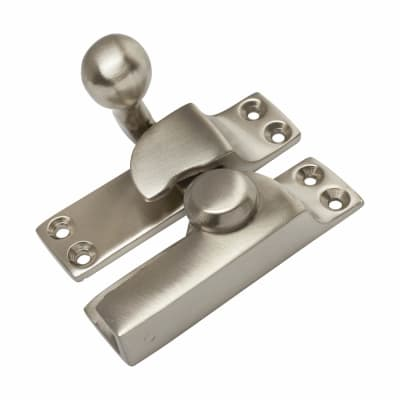 Quadrant Arm Sash Fastener - 69mm - Satin Nickel