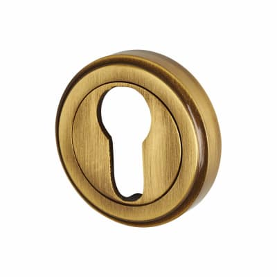 M Marcus Escutcheon - Euro - Antique Brass