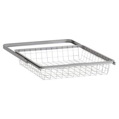 elfa Basket and Frame- 449 x 430 x 85mm - Platinum