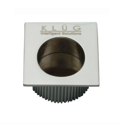 KLÜG Square Door Edge Finger Flush Pull - 30 x 30mm - Polished Chrome