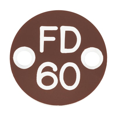 FD60 Door Sign Drilled - 25mm - Brown