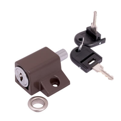 Push Type Window Lock - Keyed Alike Differ 2 - Brown