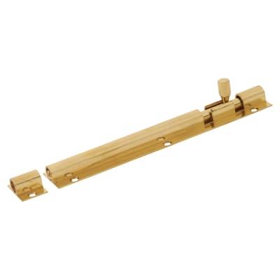 Straight Barrel Bolt - 150 x 25mm - Polished Brass