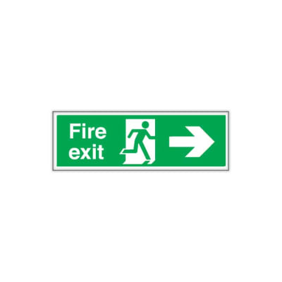 Double Sided Fire Exit - Right Arrow