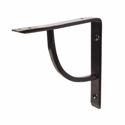 Olde Forge Plain Steel Shelf Bracket - 152 x 152mm - Black