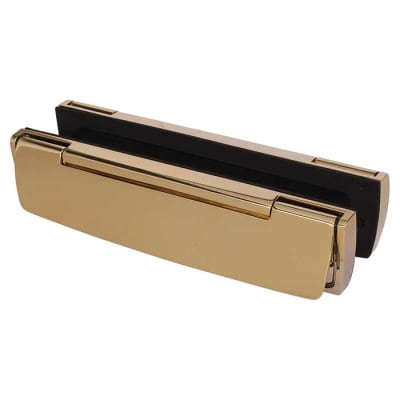 Hoppe Letter Plate - 310mm x 76mm - Polished Brass