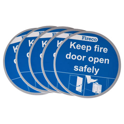 Dorgard Fire Door Stickers - Pack 5