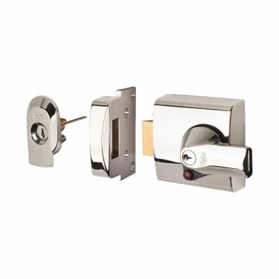 Yale® PBS1 BS3621:2007 Nightlatch - 60mm Backset - Polished Chrome