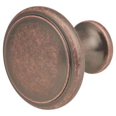Thorpe Cabinet Knob - 30mm Diameter - Antique Copper