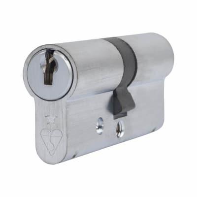 ERA 1 Star Kitemarked Cylinder - Euro Double - Length 70mm - 35 + 35mm - Nickel