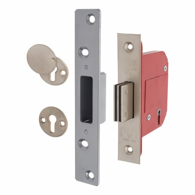 ERA® BS3621:2007 5 Lever Deadlock - 79mm Case - 56mm Backset - Satin Chrome
