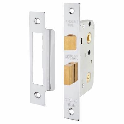 ERA® Bathroom Lock - 76mm Case - 56mm Backset - Chrome Effect