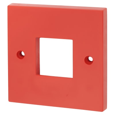 Click Scolmore Single Switch Plate 2 Aperture - Red