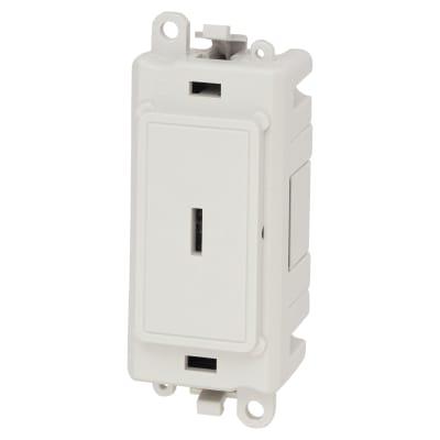 Click Scolmore GridPro 20AX Double Pole KeySwitch Module - White