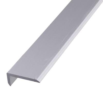 2000mm Chamfered Edge Profile - 19.6 x 8.6 x 1.6mm - Anodised Aluminium