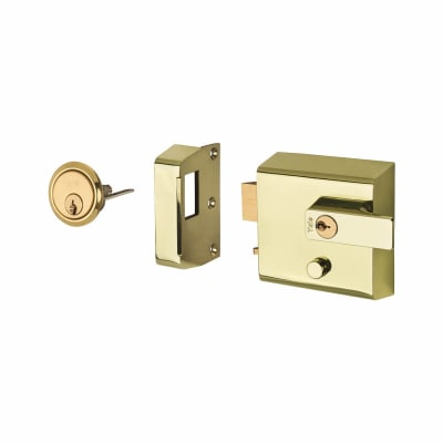 Yale® P1 Double Locking Nightlatch - Brass