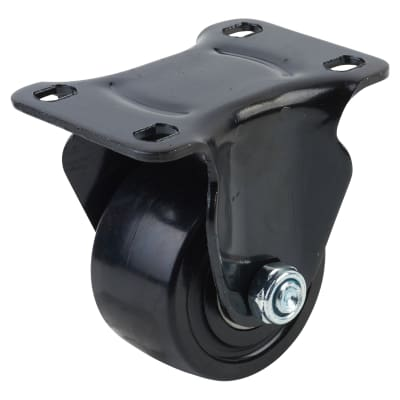 Coldene Low Level and High Load Castor - Fixed - 200kg Maximum Weight - Black