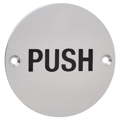 Push - 75mm - Satin Aluminium