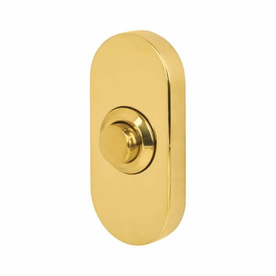 Steelworx Bell Push - 64 x 30mm - Polished Brass PVD