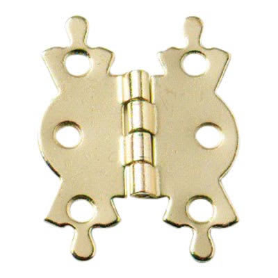 Butterfly Hinge - 50 x 41mm - Electro Brass Plated - Pair
