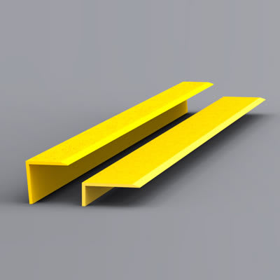 EdgeGrip Nosing Strip - 750 x 55 x 55mm - Yellow
