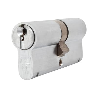 Eurospec Euro Double Cylinder - 10 Pin - 35 + 35mm - Satin Chrome - Keyed to Differ