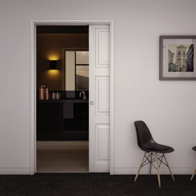 Klug Ultra Pocket Door Kit with Soft Close - 120mm Finished Wall Thickness - 915mm Maximum Door Wid