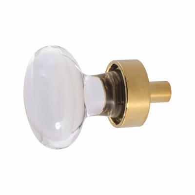 Oval Glass Cabinet Knob - 31mm - Polished Brass