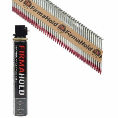 TIMco 34° FirmaHold Clipped Head Nail and Gas - First Fix - 2.8 x 50mm - FirmaGalv - 1 Fuel Cell